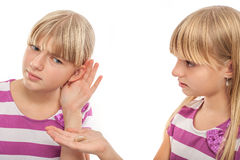 Hearing problems  solution Royalty Free Stock Image