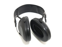 Hearing protection. Widely used in sports, hunting, lawn maintenance, construction sites, airport crews Royalty Free Stock Photos