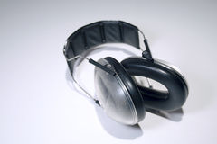 Hearing protection. Widely used in sports, hunting, lawn maintenance, contruction sites, airport crews, et cetera stock image