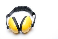 Hearing protection ear isolated examples of his white background Royalty Free Stock Image
