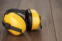 Hearing protection ear muffs Stock Photography