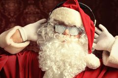 Hearing santa Stock Photo