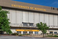 Hearnes Center Arena at University of Missouri royalty free stock photography