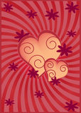 Hears ornament valentines card. Stock Image