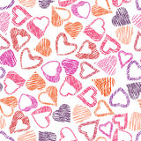 Hears seamless pattern, love and valentine theme Royalty Free Stock Photo