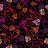 Hears seamless pattern, love valentine and wedding theme seamles Stock Photo