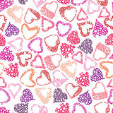 Hears seamless pattern, love valentine and wedding theme seamles Royalty Free Stock Images