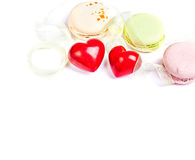 Hears and sweets isolated  background Stock Photo