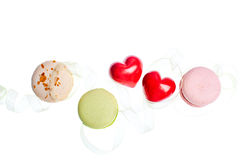 Hears and sweets isolated  background Stock Photos