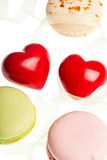 Hears and sweets isolated  background Royalty Free Stock Image