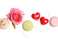 Hears and sweets isolated  background Royalty Free Stock Photos