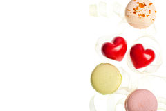 Hears and sweets isolated  background Royalty Free Stock Photography