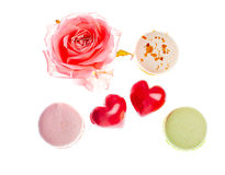 Hears and sweets isolated  background Stock Image