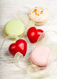 Hears and sweets valentine  background Stock Images