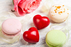 Hears and sweets valentine  background Royalty Free Stock Photo