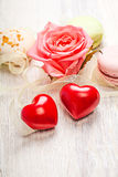 Hears and sweets valentine background Stock Image