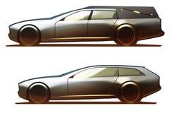 Hearse σώματος αυτοκινήτων και φρένο πυροβολισμού Ελεύθερη απεικόνιση δικαιώματος