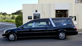 Hearse for funeral service. Shot of hearse for funeral service stock images