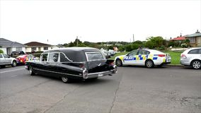 A hearse for funeral service