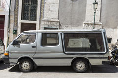 Hearse parked on the street Royalty Free Stock Image