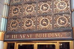 Hearst που χτίζει τα ιστορικά μενταγιόν χαλκού Στοκ Εικόνα