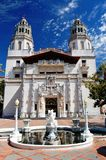 Hearst Castle San Simeon Estate. The Casa Grande is the 60,645 square-foot centerpiece of Hearst Castle Stock Images