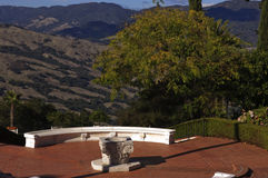 Hearst Castle view of San Simeon Stock Photo