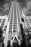 Hearst Tower in Charlotte NC. Hearst Tower in Charlotte, North Carolina in black and white Royalty Free Stock Photography