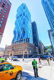 Hearst Tower in Manhattan, New York City. New York City, USA - October 12, 2015: Hearst Tower in NYC. 182 m high, it was designed by Norman Foster and received Royalty Free Stock Photography