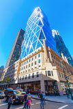 Hearst Tower in Manhattan, New York City. New York City, USA - October 12, 2015: Hearst Tower in NYC. 182 m high, it was designed by Norman Foster and received Stock Photo