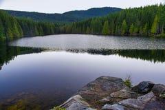 Heart湖风景看法在Ladysmith,温哥华岛, Britis 图库摄影