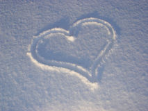 Heart 01. Snow heart Royalty Free Stock Images