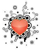 Heart. Vector Heart with floral elements Royalty Free Stock Image