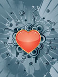 Heart. Vector Heart with floral elements Royalty Free Stock Photography