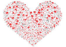 Heart. Romantic drops heart on the white background Royalty Free Stock Images