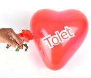 Heart. The rose and heart with to let Stock Image