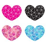 Heart. Gem heart graphic vector illustration isolated over white background Stock Photo