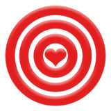 Heart. Illustration of red heart in the centre darts Royalty Free Stock Photo