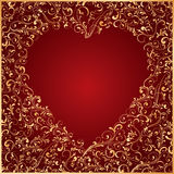 Heart. Decorative template for text, illustration Royalty Free Stock Images