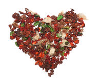 Heart. Made of dried flowers Stock Photo