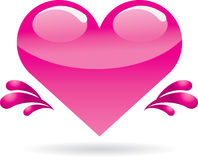 Heart. Cute heart  design. illustration Royalty Free Stock Photos