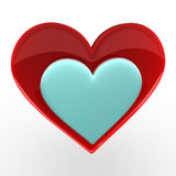 Heart. Glossy heart; high quality 3D rendered illustration Stock Images