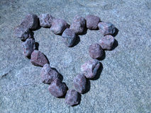 Heart. Of stones in moonlight Royalty Free Stock Photo