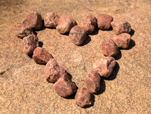 Heart. Of stones in sunlight Royalty Free Stock Image