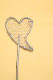 Heart. Glitter covered heart on a stick Royalty Free Stock Image