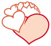 Heart. With small s. Vector illustration Royalty Free Stock Photo