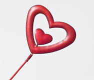Heart. On the stick – decoration element Stock Photos