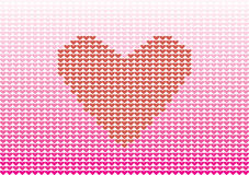Heart. The pink and red hearts are on the white background Royalty Free Stock Images