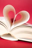 Heart. Book pages curved into heart Stock Image