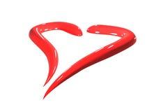 Heart. Red ceramic isolated art heart Royalty Free Stock Photo